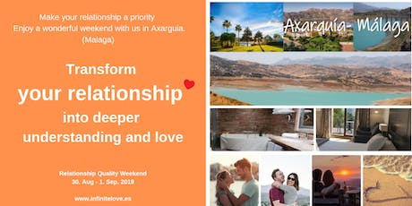 Transform your relationship into deeper understanding and love ( Axarquia) tickets