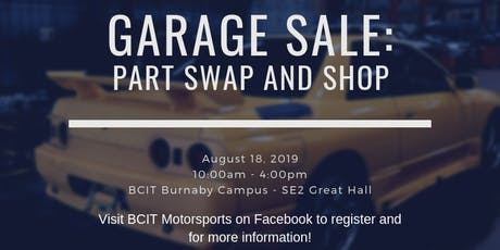 BMS Swap and Shop! tickets