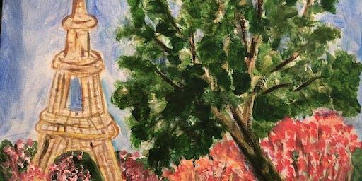 """Pour & Paint """"Paris in the Spring"""""""