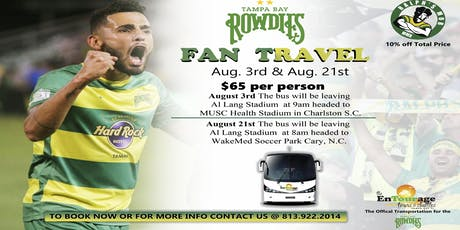 Rowdies Fan Travel tickets