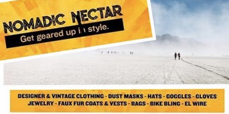 Nomadic Nectar Burner PlayaWear Sale in EAST BAY! Cream of the Crop tickets