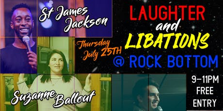 Laughter and Libations 7.25 tickets