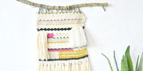Boho Chic Wall Weaving Hanging - Basic Weaving and Loom Techniques tickets