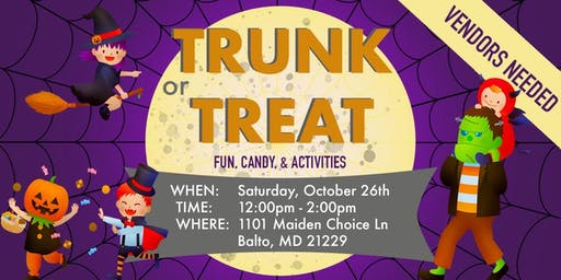 Trunk or Treat Vendor Event