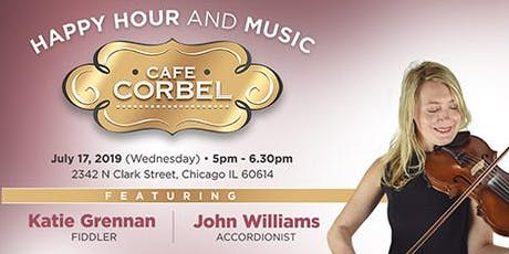 Happy Hour and Music at Cafe Corbel® tickets