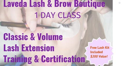 Lash Artist Classic & Volume Training - 1 Day Certification tickets