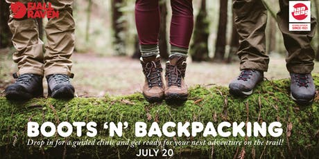 BOOTS 'N' BACKPACKING tickets