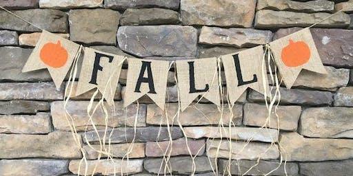 Fall Burlap DIY Bunting Class