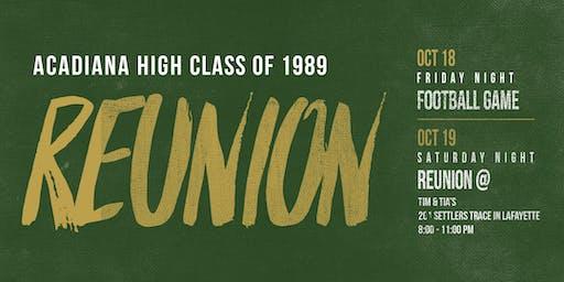 Class of 1989 30-Year High School Reunion