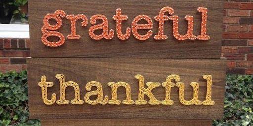 Thanksgiving Fall String Art Workshop