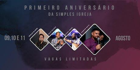 Primeiro aniversário da Simples Igreja ingressos