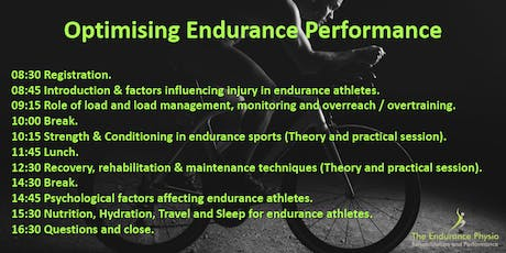 Optimising Endurance Performance Course tickets