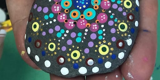 Mandala Dotting - Rock painting workshop for beginners