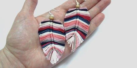 Feather Earrings Workshop tickets