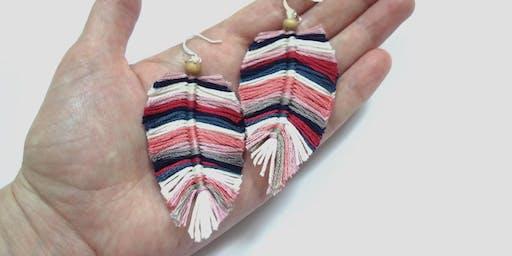 Feather Earrings Workshop
