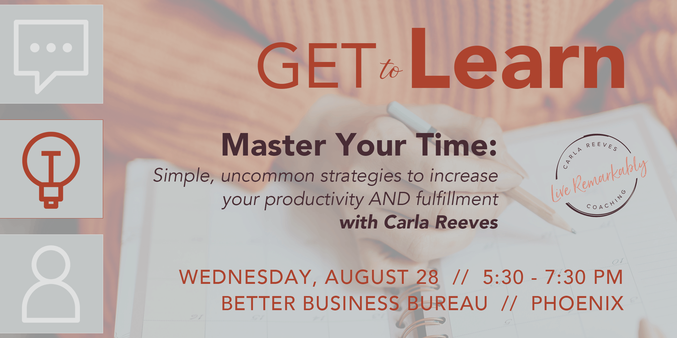 GET to Learn: Master Your Time