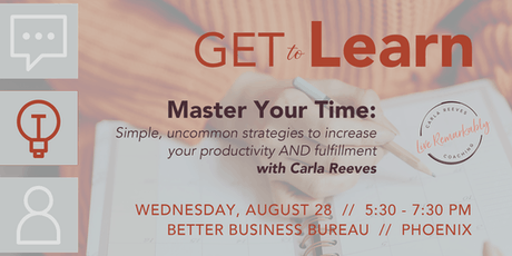 GET to Learn: Master Your Time tickets