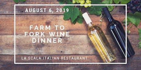 Farm to Fork Wine Dinner tickets