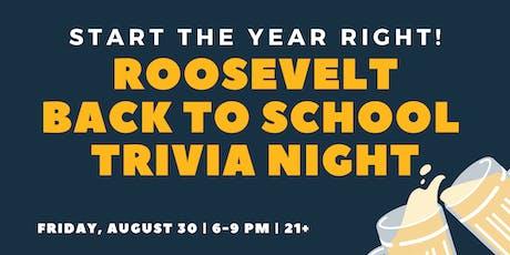 Roosevelt Back To School Trivia Night tickets