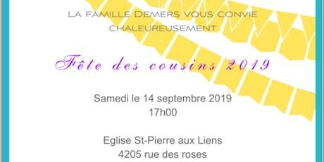 Réunion cousins Demers et cie 2019 tickets