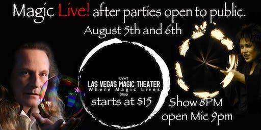 Magic Live Parties & Magic Show then open mic at Las Vegas Magic Theater.