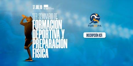 3er Seminario de Formación Deportiva y Preparación Física entradas