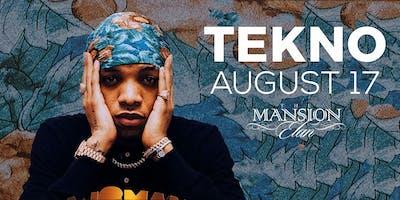 TEKNO LIVE IN ATLANTA | SATURDAY AUGUST 17 | MANSION ELAN