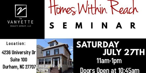 Homes Within Reach  Home Buyer's Seminar