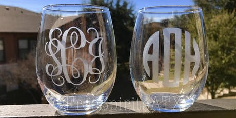 Wine glass etching with Canvas Paintings by Katie tickets