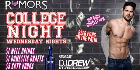 Rumors College Night! tickets