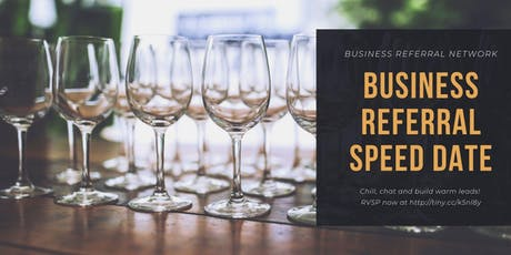 Business Referral Speed Date 3 tickets