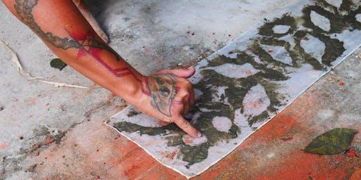 Mud Mark Making workshop with Libby Harward