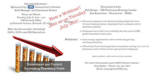 Understand and Control Increasing Pharmacy Costs