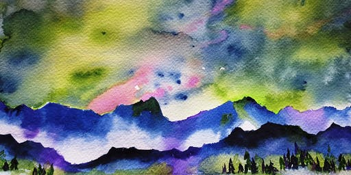 Beginning Watercolor Workshop with Chris Blevins - Northern Lights