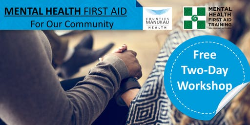Wed 28 August & Wed 4 September - Mental Health First Aid (2-Day Workshop)