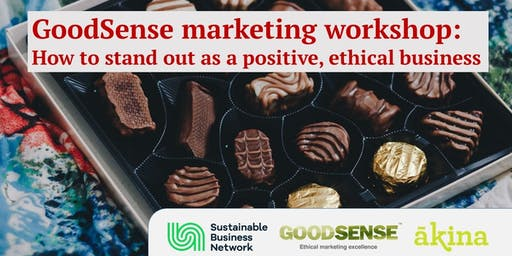 GoodSense marketing workshop - How to stand out as a positive, ethical business