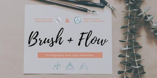 Brush Calligraphy + Yoga