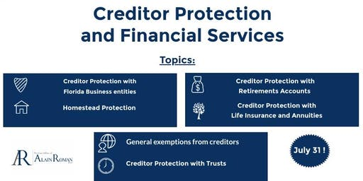 Creditors Protection and Financial Services