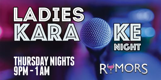 RUMORS LADIES NIGHT!
