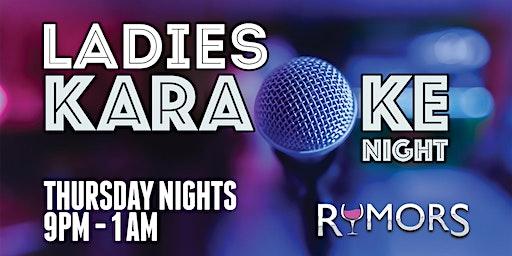RUMORS LADIES NIGHT!