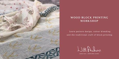 Wood Block Printing Workshop tickets