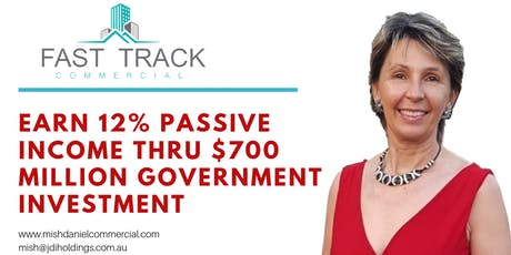 Earn 12% passive income thru $700 million Government investment tickets