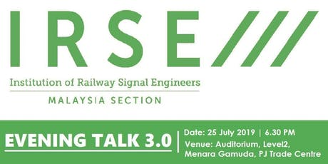 Evening Talk 3.0 - IRSE Malaysia  Section tickets