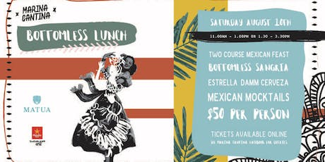 Marina Cantina bottomless lunch August tickets