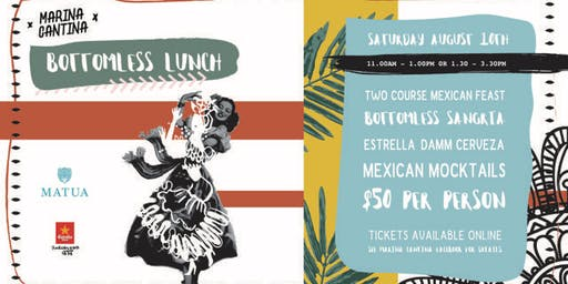 Marina Cantina bottomless lunch August