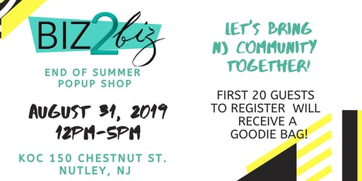 Biz 2 Biz Summer Popup Shop