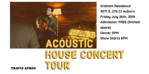 Graham Residence Acoustic House Concert Tour
