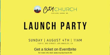 City Church Launch Party tickets