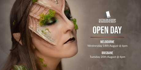 The Australian Academy of Cinemagraphic Makeup Brisbane Campus Open Day tickets