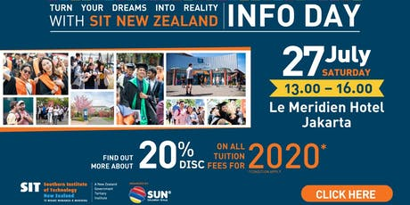 Southern Institute of Technology (SIT) New Zealand Info Day 2019 tickets